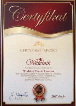 CertyfikatWeselnik2017